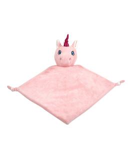 Unicorn knuffeldoekje pink inclusief gratis naam borduren
