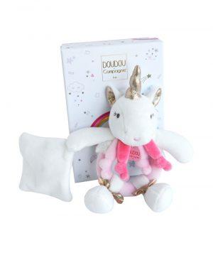 Knuffeldoekje Unicorn rammelaar