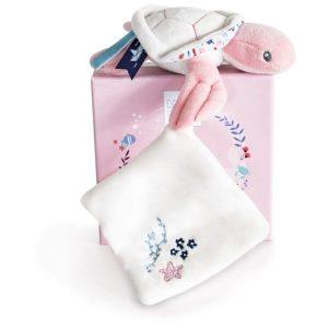 Knuffeldoekje Schildpadje pink