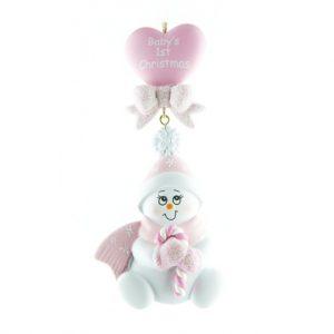 Ornament Baby Hart roze