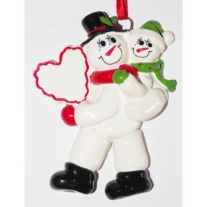 Sneeuwman met 1 kind