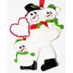 Ornament Sneeuwman 2 kinderen