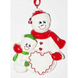Ornament Sneeuwvrouw 1 kind