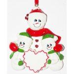 Ornament Sneeuwvrouw 2 kinderen
