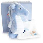 Knuffeldoekje Zeepaardje met gratis naam borduren