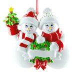 Ornament Sneeuw familie 2