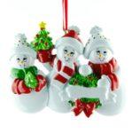Ornament Sneeuw familie 3