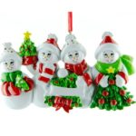Ornament Sneeuw familie 4